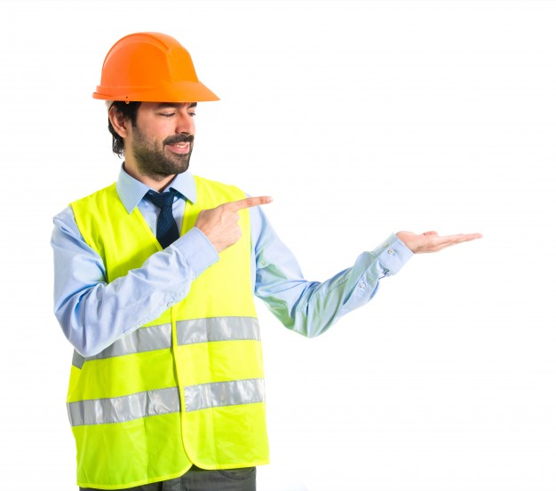 worker holding